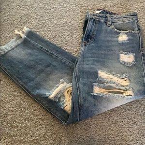 Destroyed jeans!